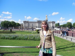 Here I am at Buckingham Palace on a beautiful morning!