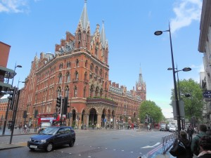 St. Pancras Renaissance Hotel near King's Cross Station, which we passed on our way to The Guardian