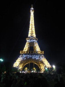 The beautiful, sparkling Eiffel Tower!