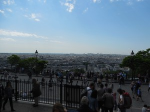 View of Paris from the steps of the Sacré-Cœur