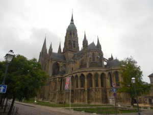 Church in the town of Bayeux in Northern France