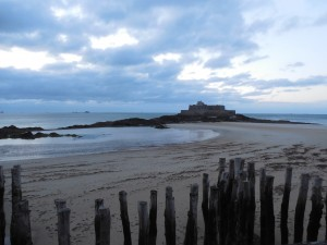 The beach at Saint Malo