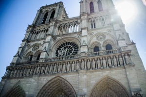 The details in the facade of Notre Dame